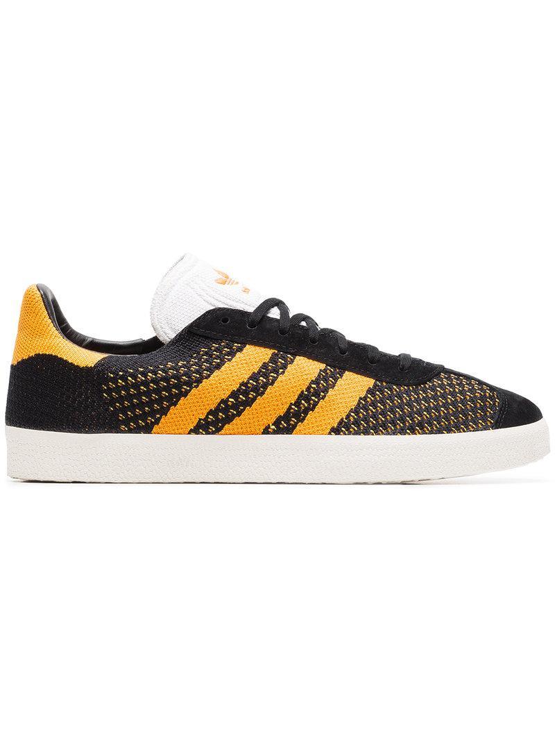 Black And Yellow Gazelle Primeknit Sneakers