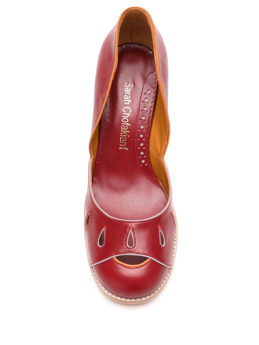 Zapatos de tacón Malee Sarah Chofakian de color Rojo