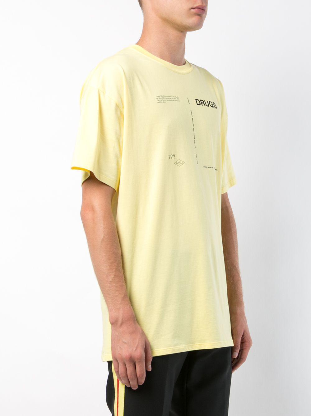 Raf Simons Print T-shirt in Green for Men