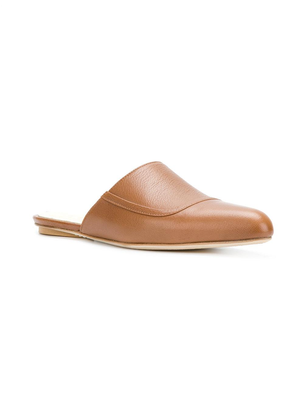 Marni Sabot Leather Slipper In Nude