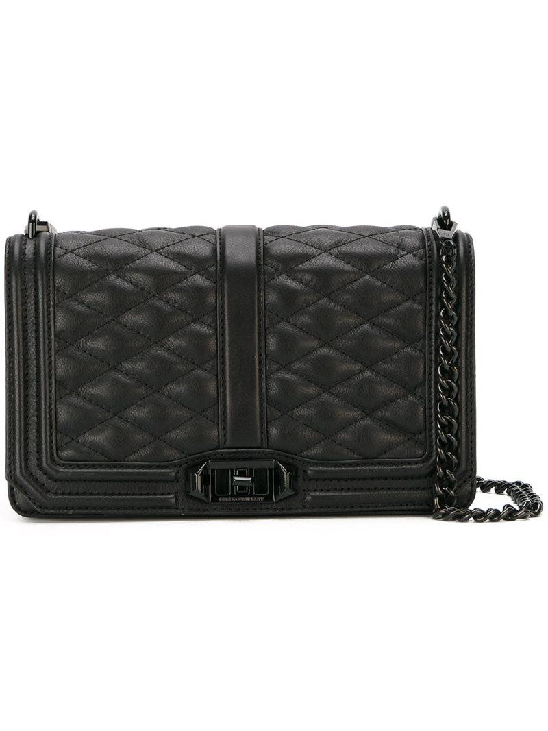 Rebecca Minkoff Leather Love Quilted Crossbody Bag In