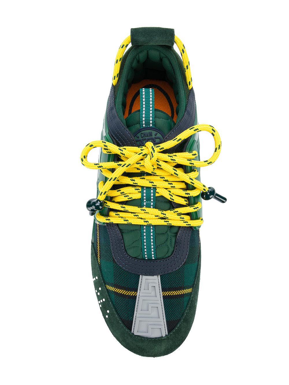 bf3c03d4451c Lyst - Baskets Chain Reaction Versace pour homme en coloris Vert