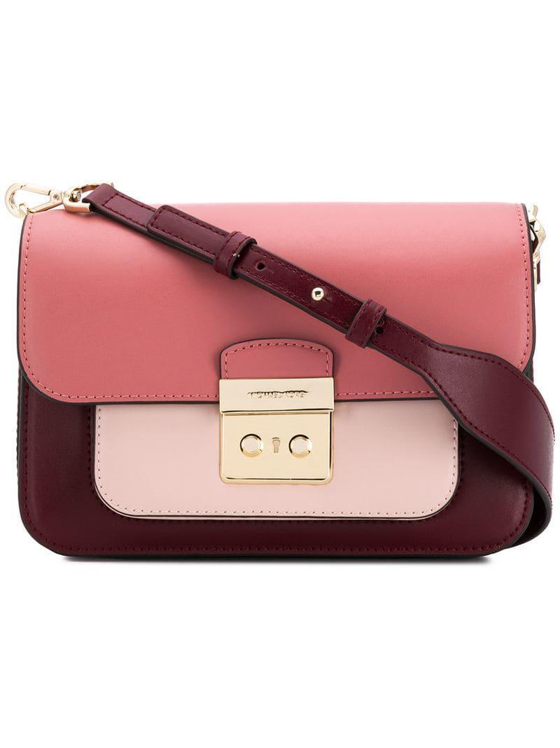 65a7796f11b5 Michael Michael Kors Sloan Crossbody Bag in Red - Lyst