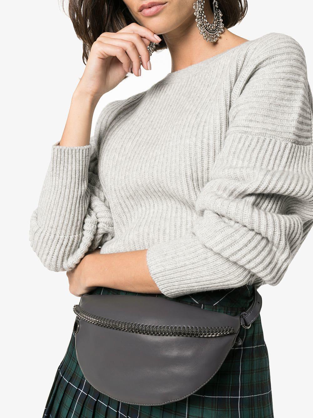 743cfe31a4 Lyst - Stella Mccartney Grey Falabella Belt Bag in Gray