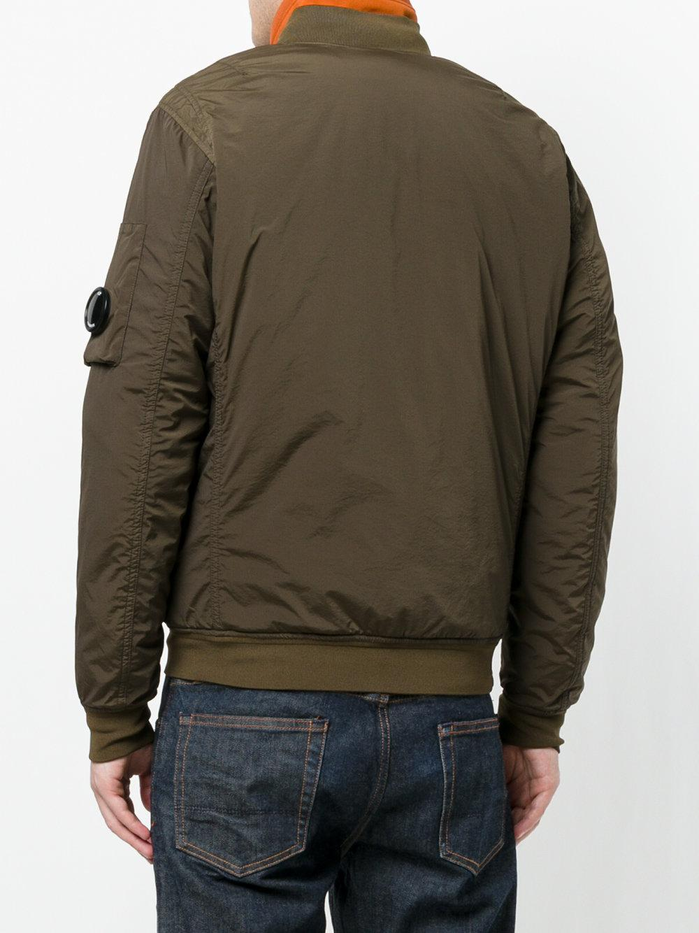 C P Company Cotton Zip Up Jacket in Green for Men