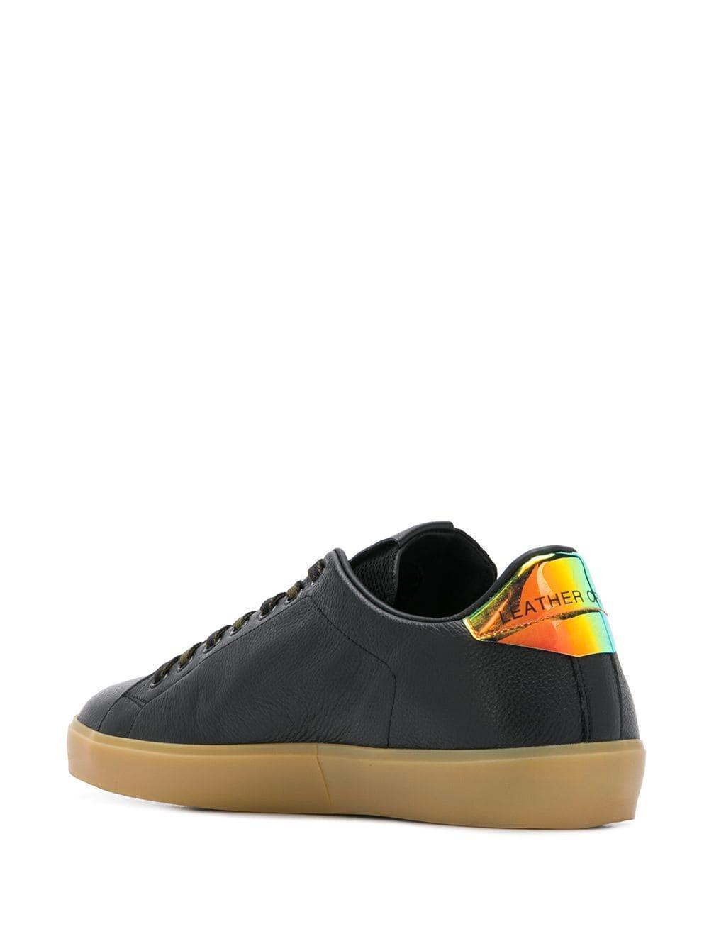 Zapatillas bajas con cordones Leather Crown de Cuero de color Negro para hombre
