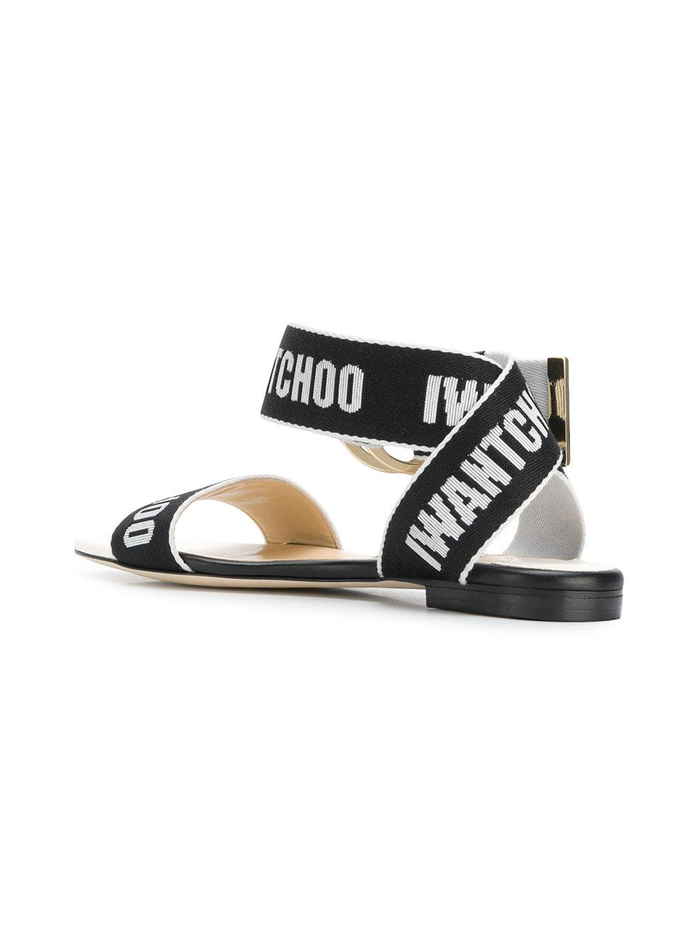 39b4a833d6ca Jimmy Choo - Black Breanne Flat Sandals - Lyst. View fullscreen