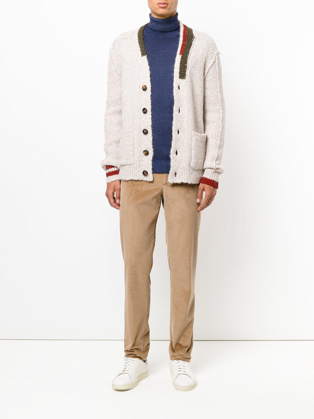 Etro Chunky-knit Cardigan in Natural for Men