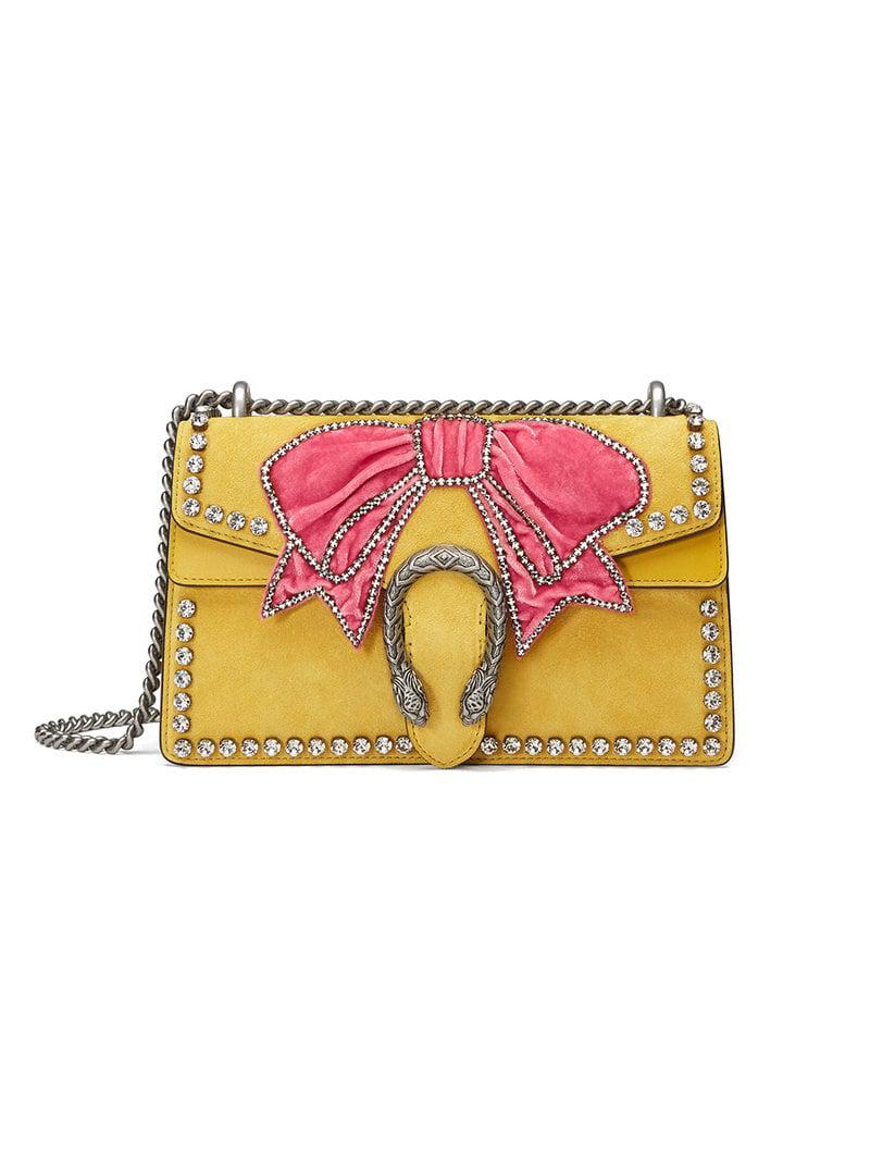 Gucci Dionysus Small Crystal Shoulder Bag in Yellow - Lyst 68a939a6990e3