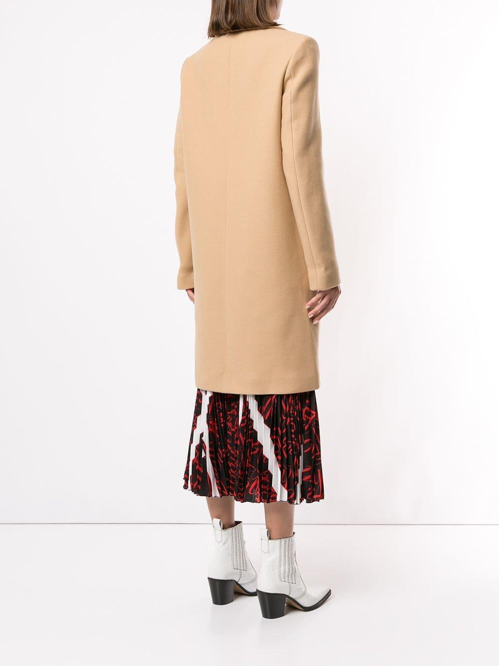 Manteau droit classique Laines MSGM en coloris Marron 46Bov