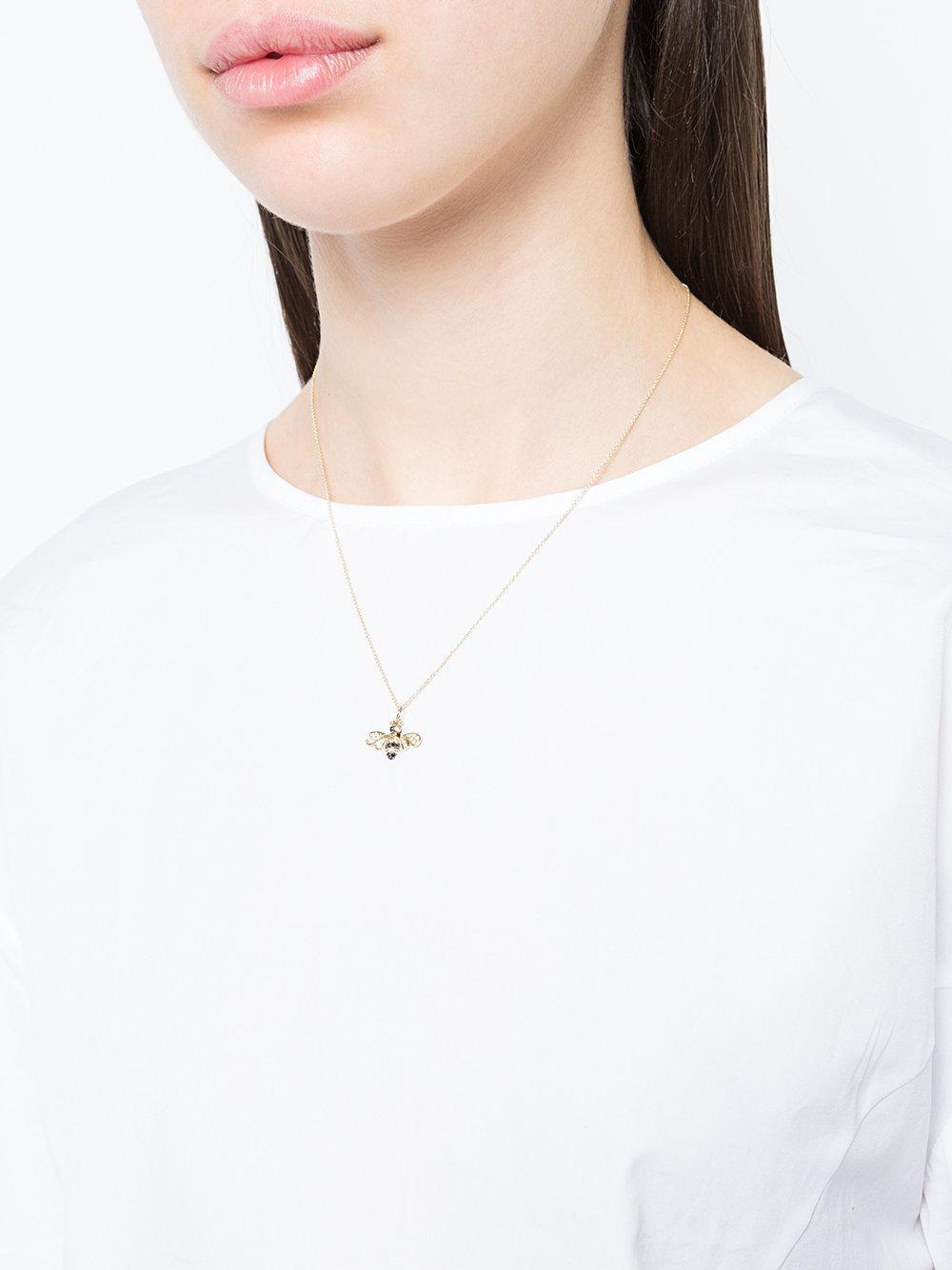 Sydney Evan Bumble Bee Necklace in Metallic
