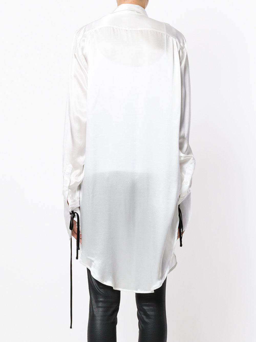 Ann Demeulemeester Silk June Shirt in White
