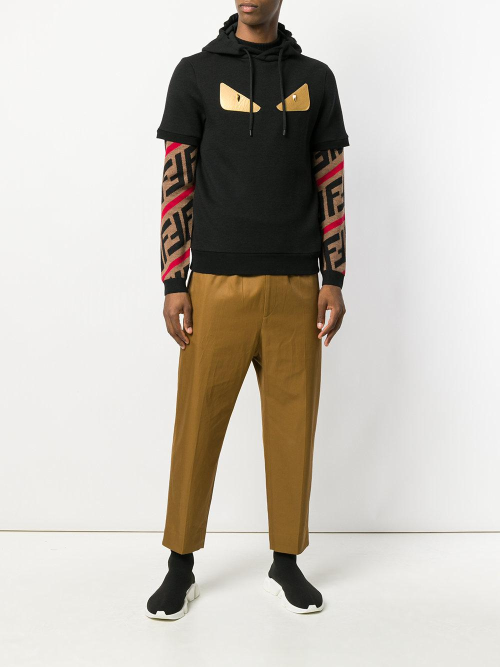 aa5323c4 Fendi Black Bag Bugs Short Sleeve Hoodie for men