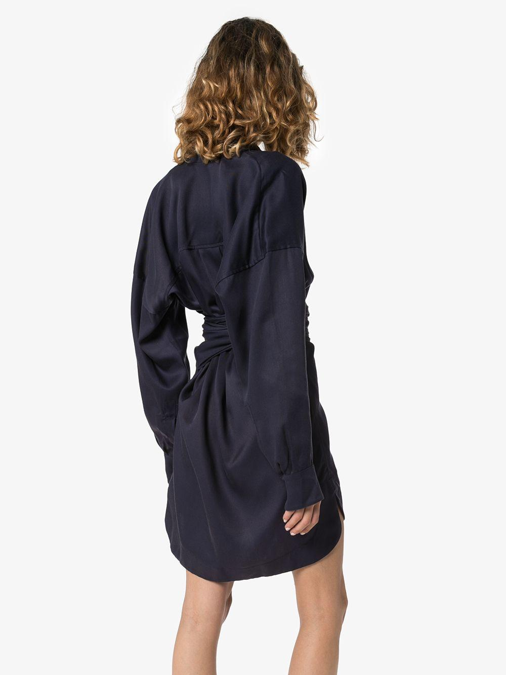 Vestido corto cruzado con cuello en V Bondi Born de Tejido sintético de color Azul
