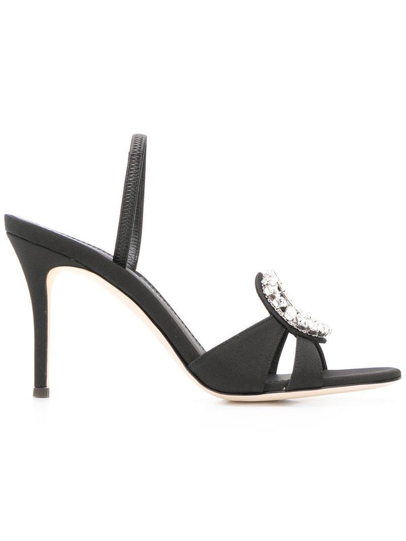64ed36aa770 Lyst - Giuseppe Zanotti Kassie 90 Sandals in Black