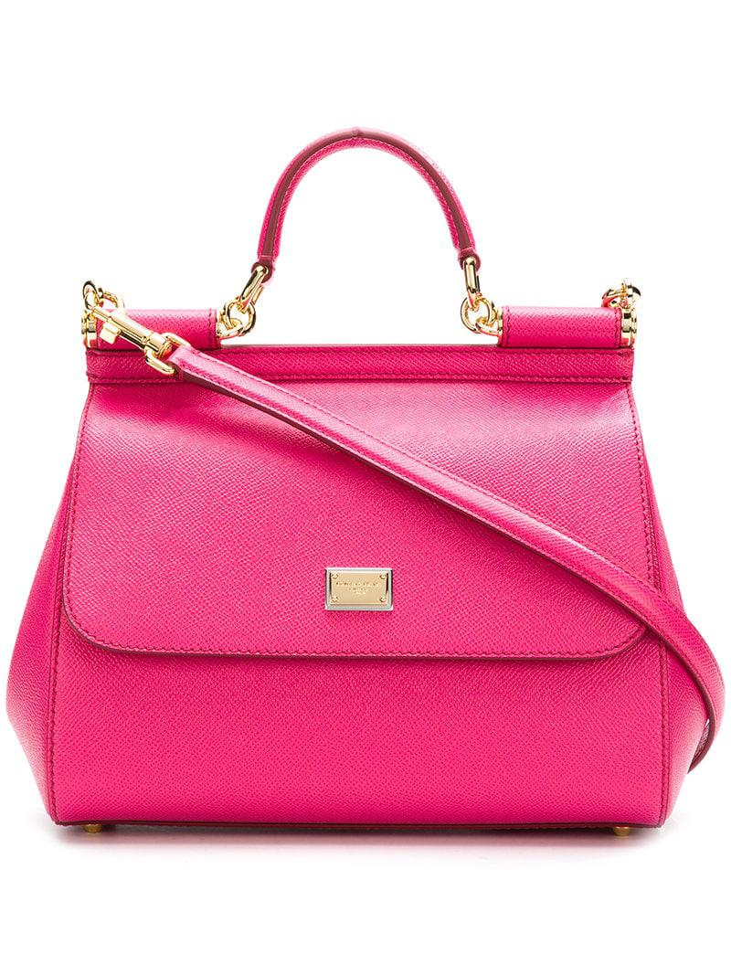 Lyst - Dolce   Gabbana Smal Sicily Shoulder Bag in Pink - Save ... 2074a33aa2253
