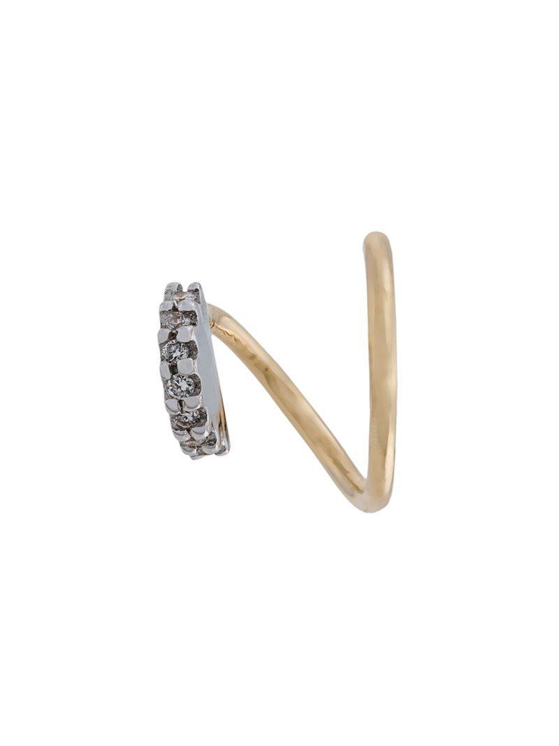Maria Black Lila Blanc diamond earring (right) - Metallic P0GocY8o