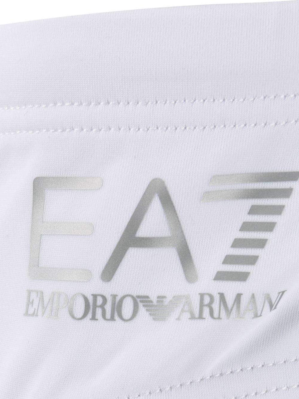EA7 Synthetisch Zwembroek Met Logoprint in het Wit voor heren