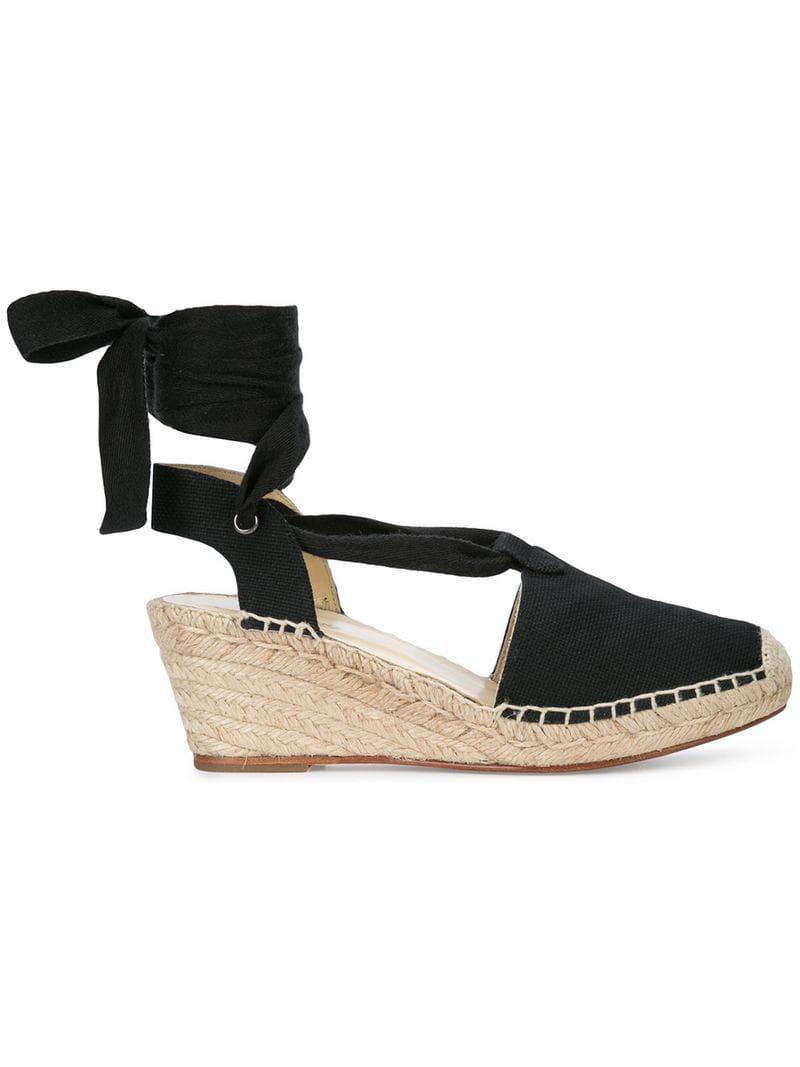 b999f29a0cba Lyst - Sarah Flint Cleo Wedge Sandals in Black