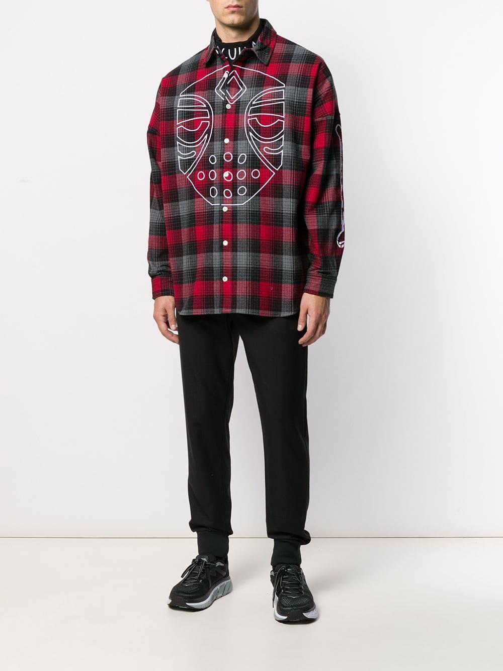 Haculla Katoen Geruit Overhemd in het Zwart voor heren