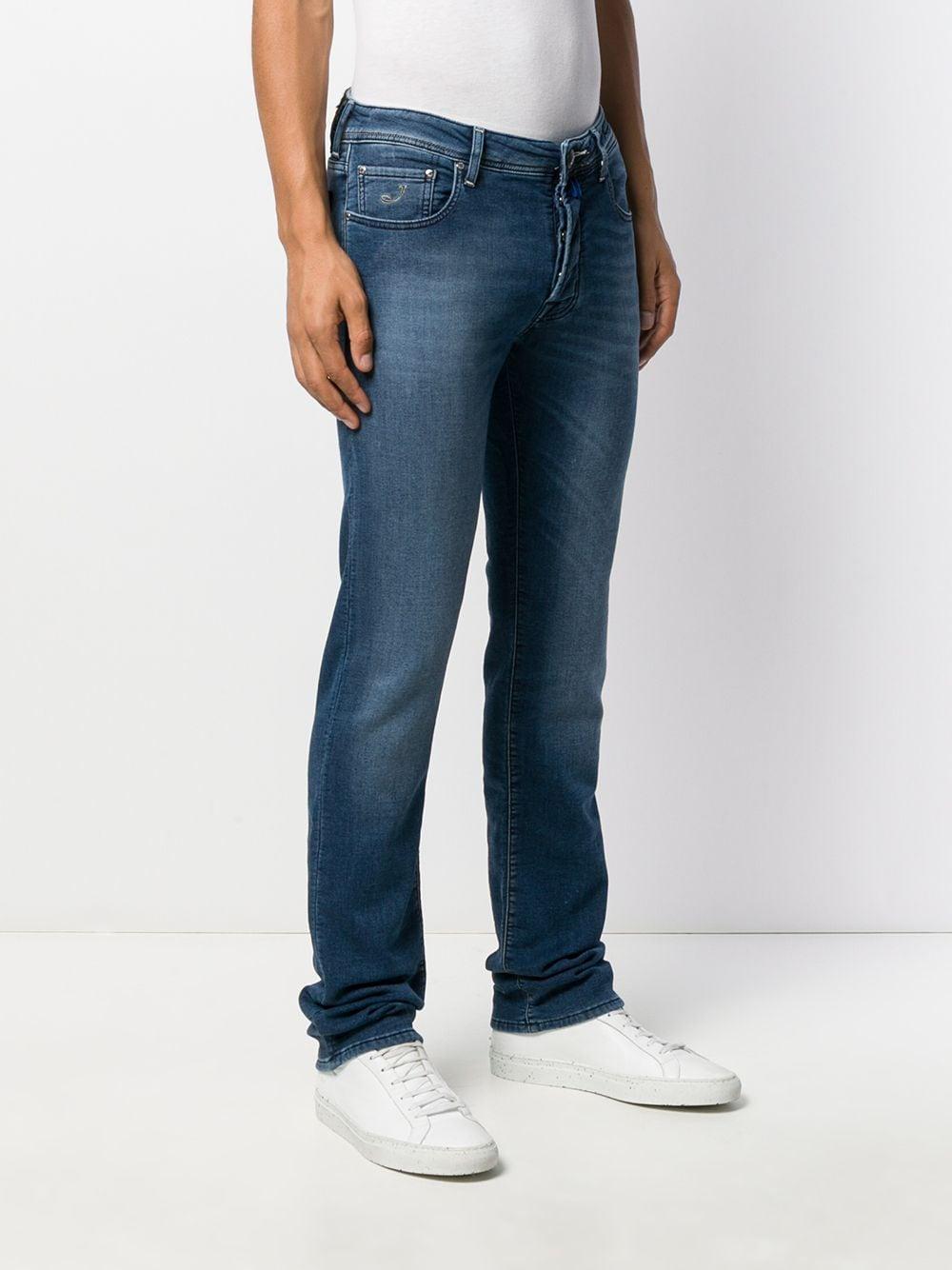 Jacob Cohen Denim Jeans Met Logo in het Blauw voor heren