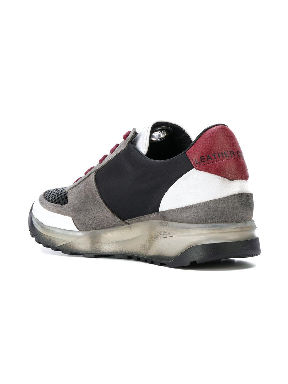 Maero Leather Sneakers Men Crown Black For OPkZXiu