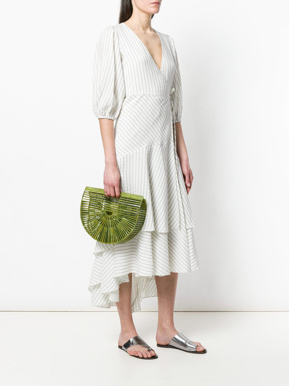 Cult Gaia Transparent Rounded Tote in Green