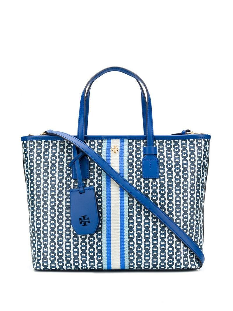 eec4ebcb0a5e Lyst - Tory Burch Bondi Gemini Tote Bag in Blue