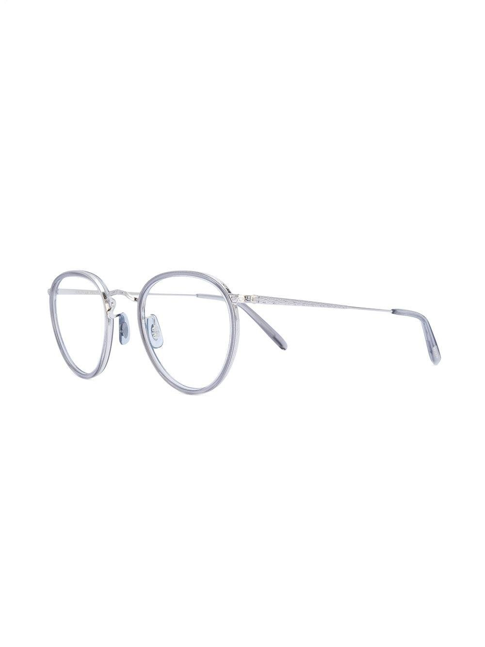 6d00c93fffb Oliver Peoples - Gray Round Frame Glasses - Lyst. View fullscreen