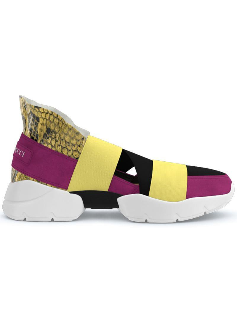 5ba000603df2 Emilio Pucci City Up Custom Sneakers in Yellow - Lyst