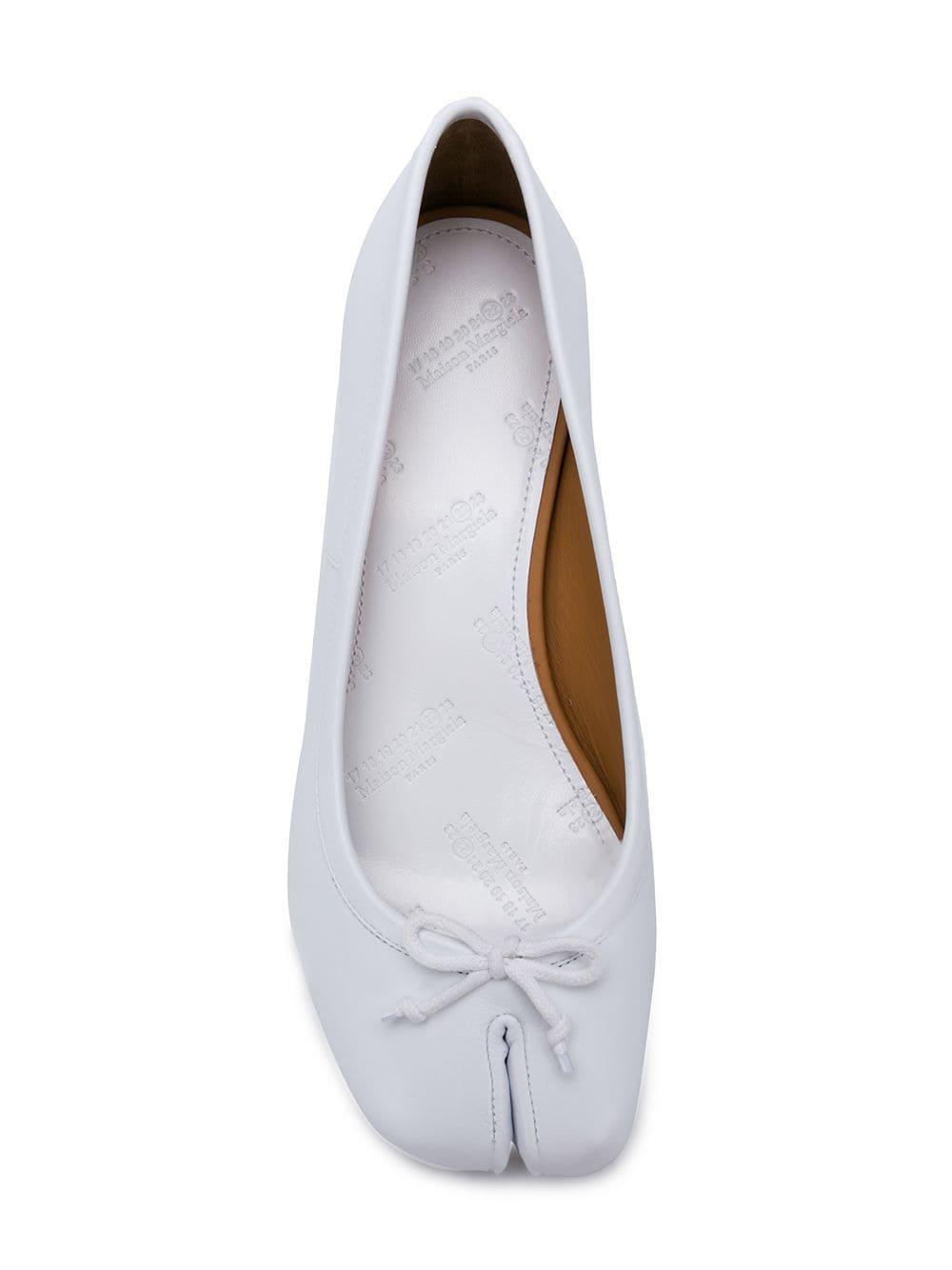 In Maison 18Lyst Sie Weiß Ballerina Margiela 'tabi' Sparen Pumps QdCWorxBEe