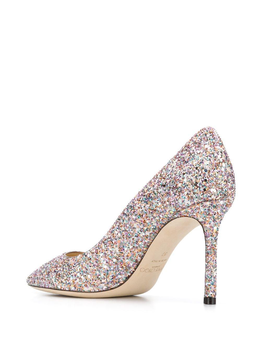 Zapatos Romy con tacón de 85mm Jimmy Choo de Cuero de color Rosa: ahorra un 5 %