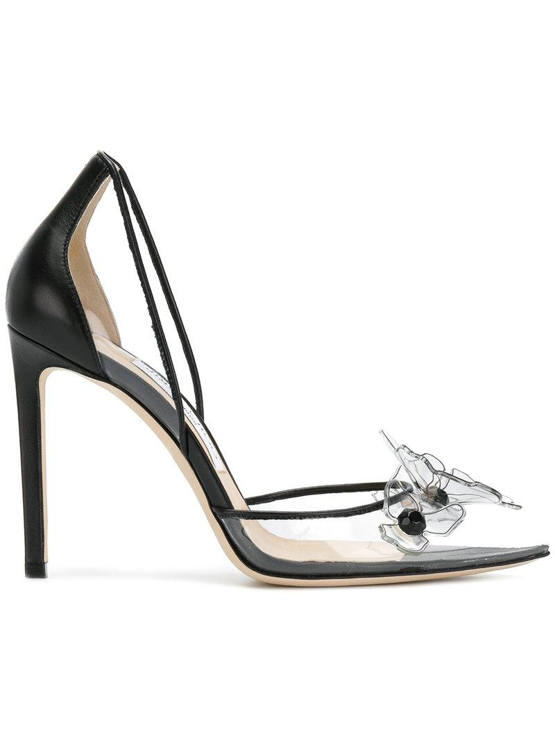 Levina 65 Embellished Pvc And Leather Pumps - Black Jimmy Choo London yFVUN