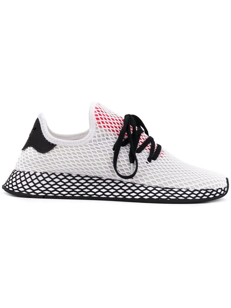 eb5c1db42 adidas Deerupt Runner Sneakers in White for Men - Lyst