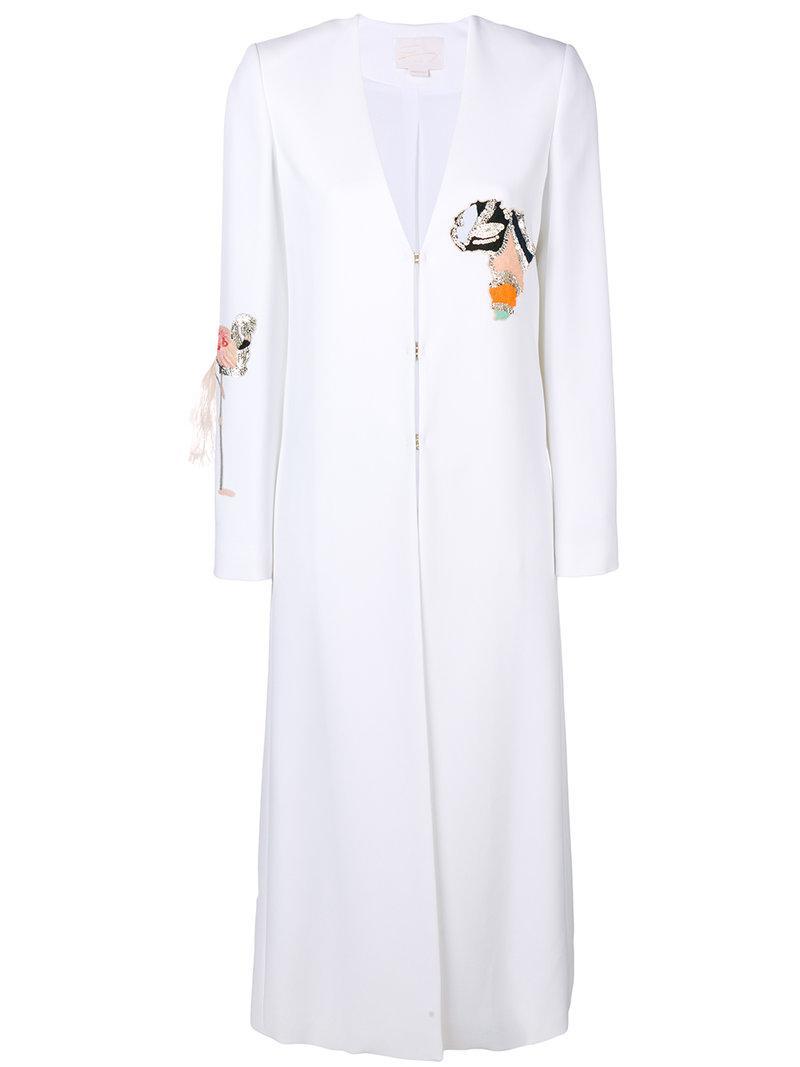 Fashion Style Discount Footlocker Finishline Africa embellished coat - White Genny Great Deals Cheap Online Agemq