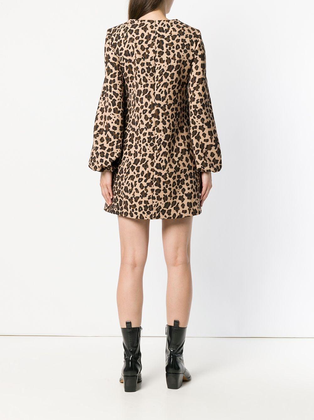 Vestido recto con estampado de leopardo P.A.R.O.S.H. de Tejido sintético