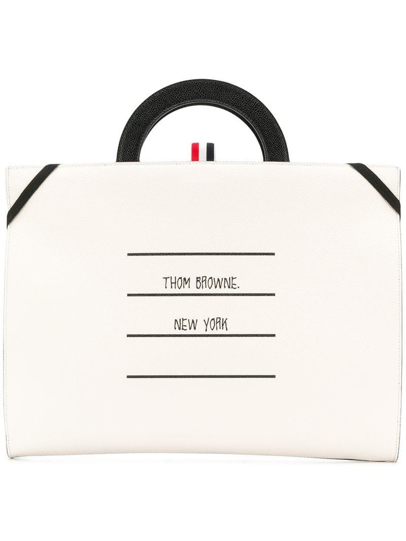 120e815a0642 Lyst - Thom Browne Folder-style Tote Bag in Black for Men