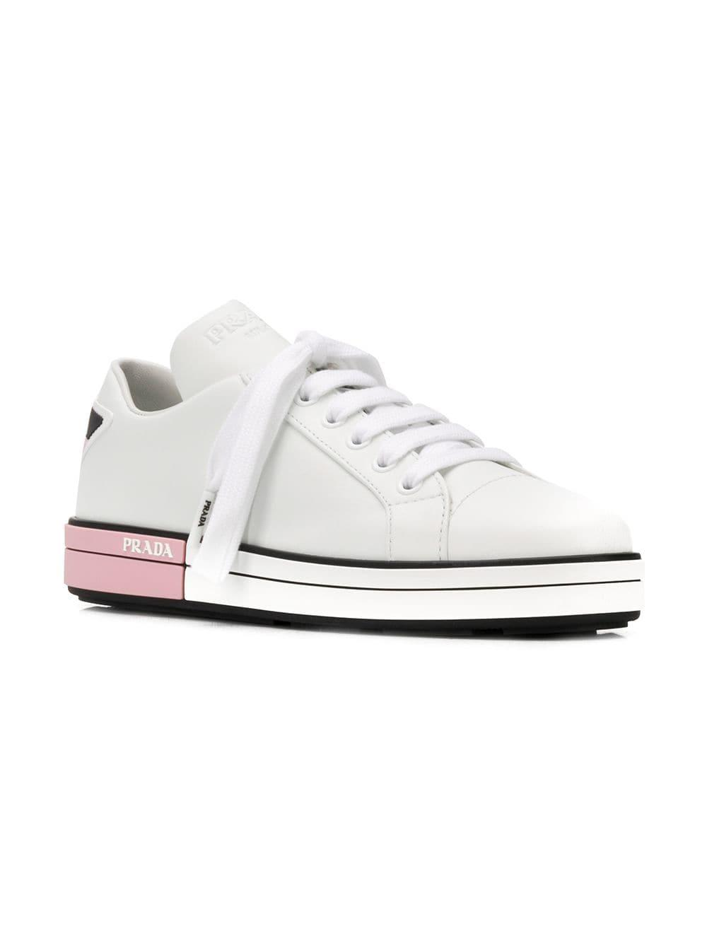65c0c16b050 Lyst - Prada Platform Sneakers in White - Save 6%