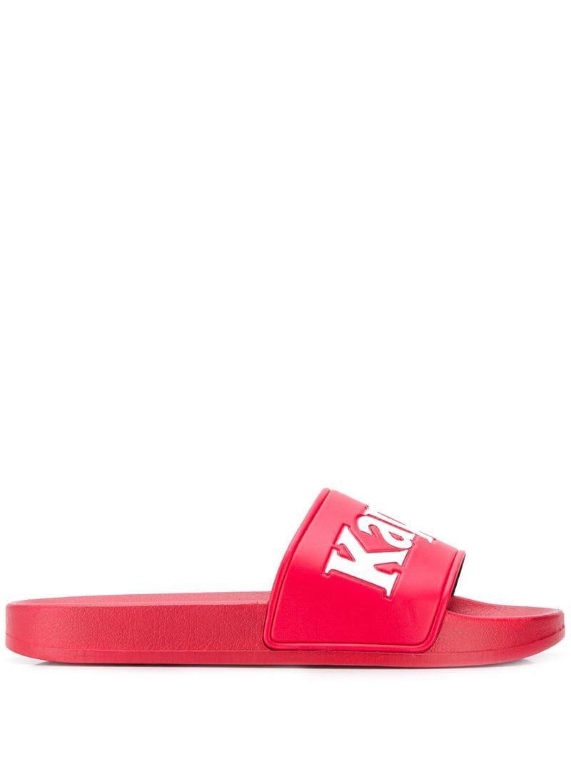 207a6ddd8e9 Lyst - Claquettes à logo Kappa pour homme en coloris Rouge