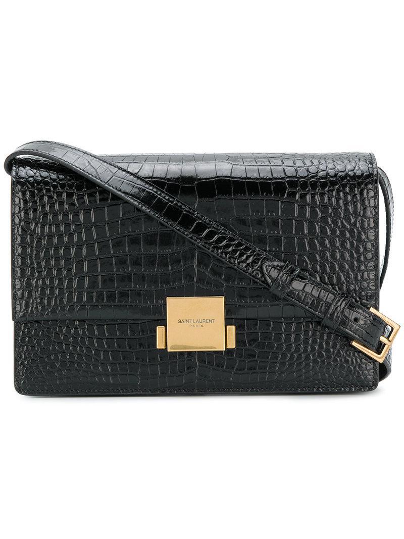 9e3e63ddec6bf Saint Laurent - Black Bellechasse Shoulder Bag - Lyst. View fullscreen