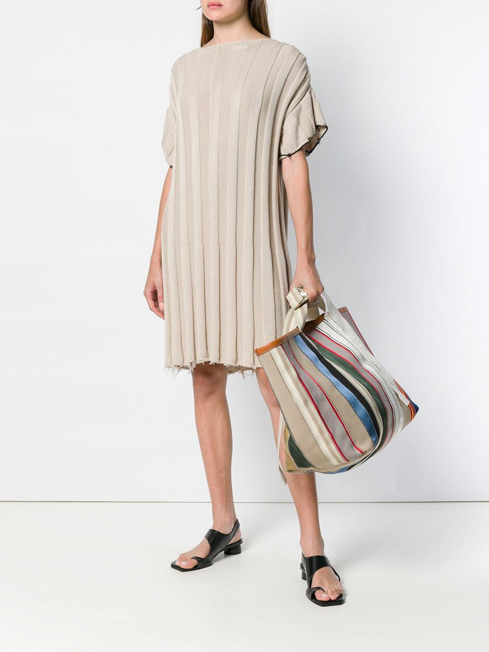 Maison Margiela Striped Tote Bag