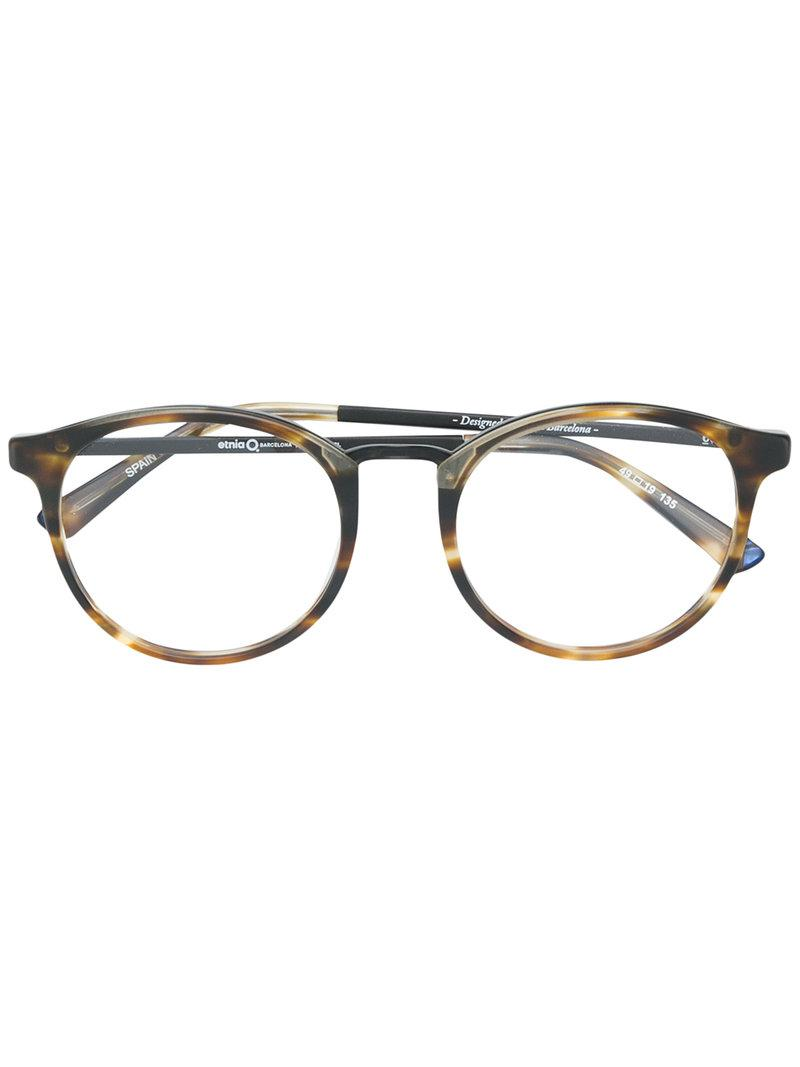 763aac14d9 Etnia Barcelona Round Shaped Glasses in Gray - Lyst