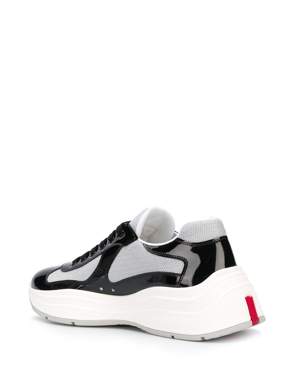 Zapatillas bajas America's Cup Prada de Cuero de color Negro para hombre