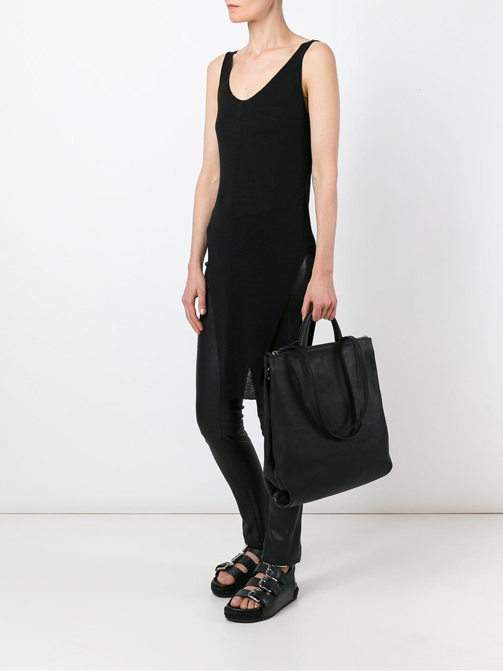 Marsèll Leather Large Tote in Black