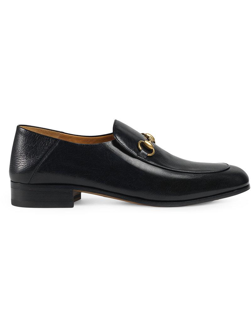 1767f8b2a8f70 Gucci Horsebit Leather Loafer in Black for Men - Save 18% - Lyst