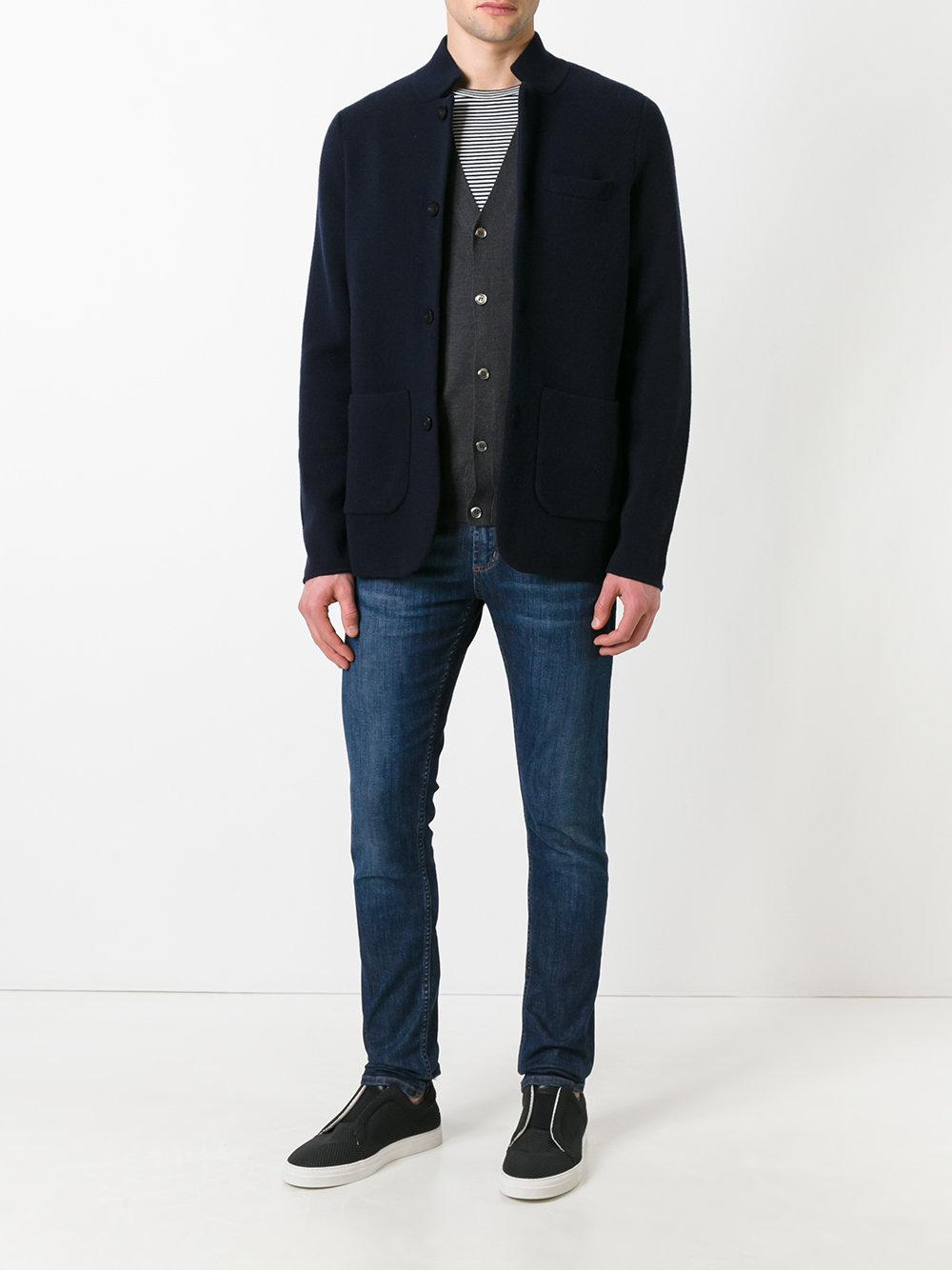 N.Peal Cashmere Cashmere Milano Jacket in Blue for Men