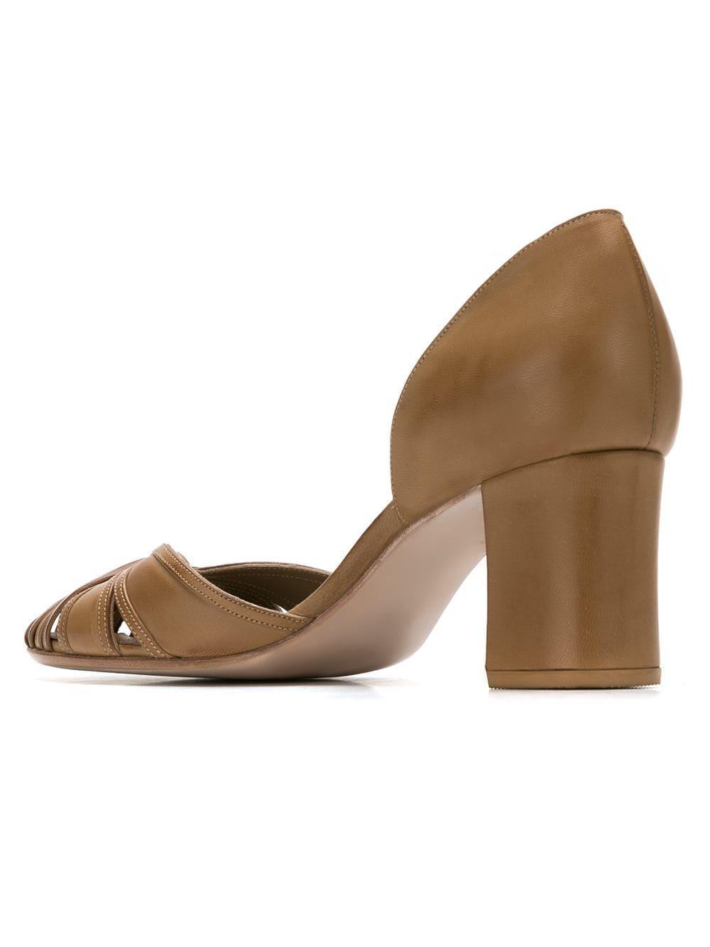 Zapatos de tacón Sarah Chofakian de Cuero de color Marrón