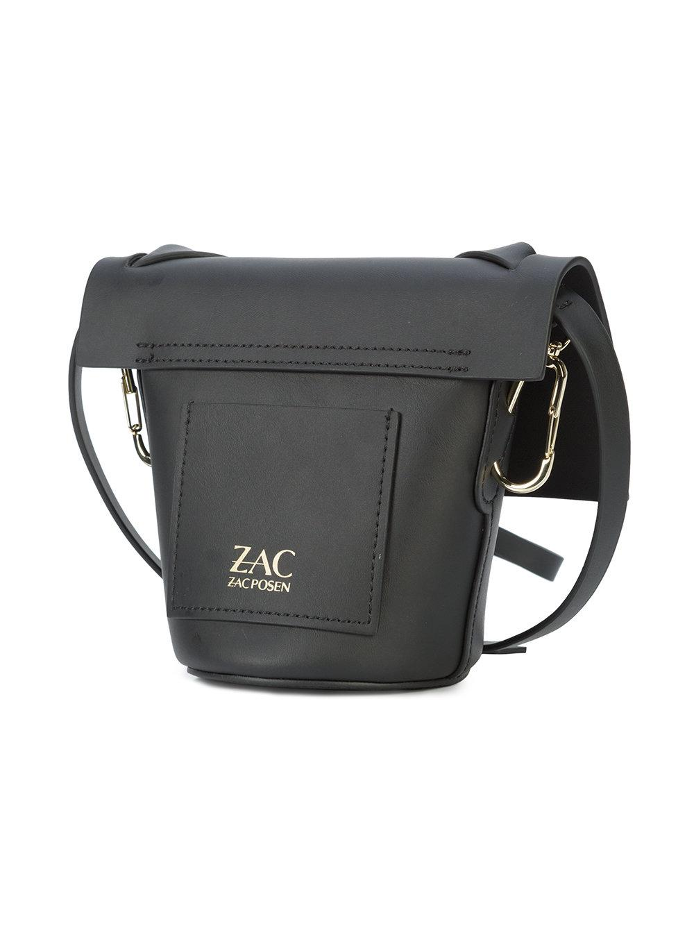 Zac Zac Posen Leather Belay Mini Crossbody Bag in Black