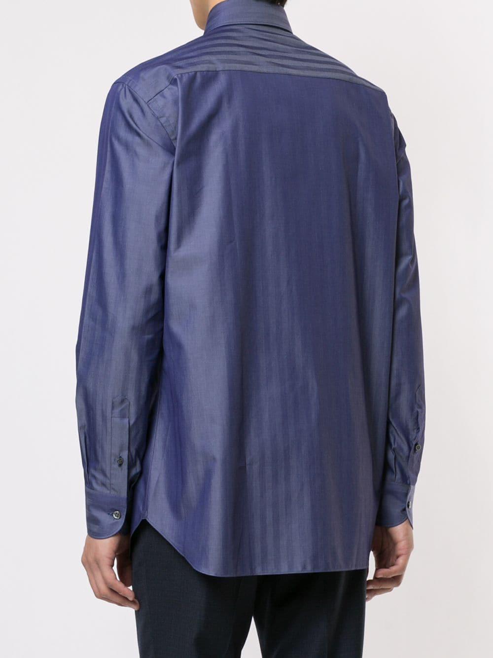 Brioni Katoen Overhemd Van Chambray in het Blauw voor heren