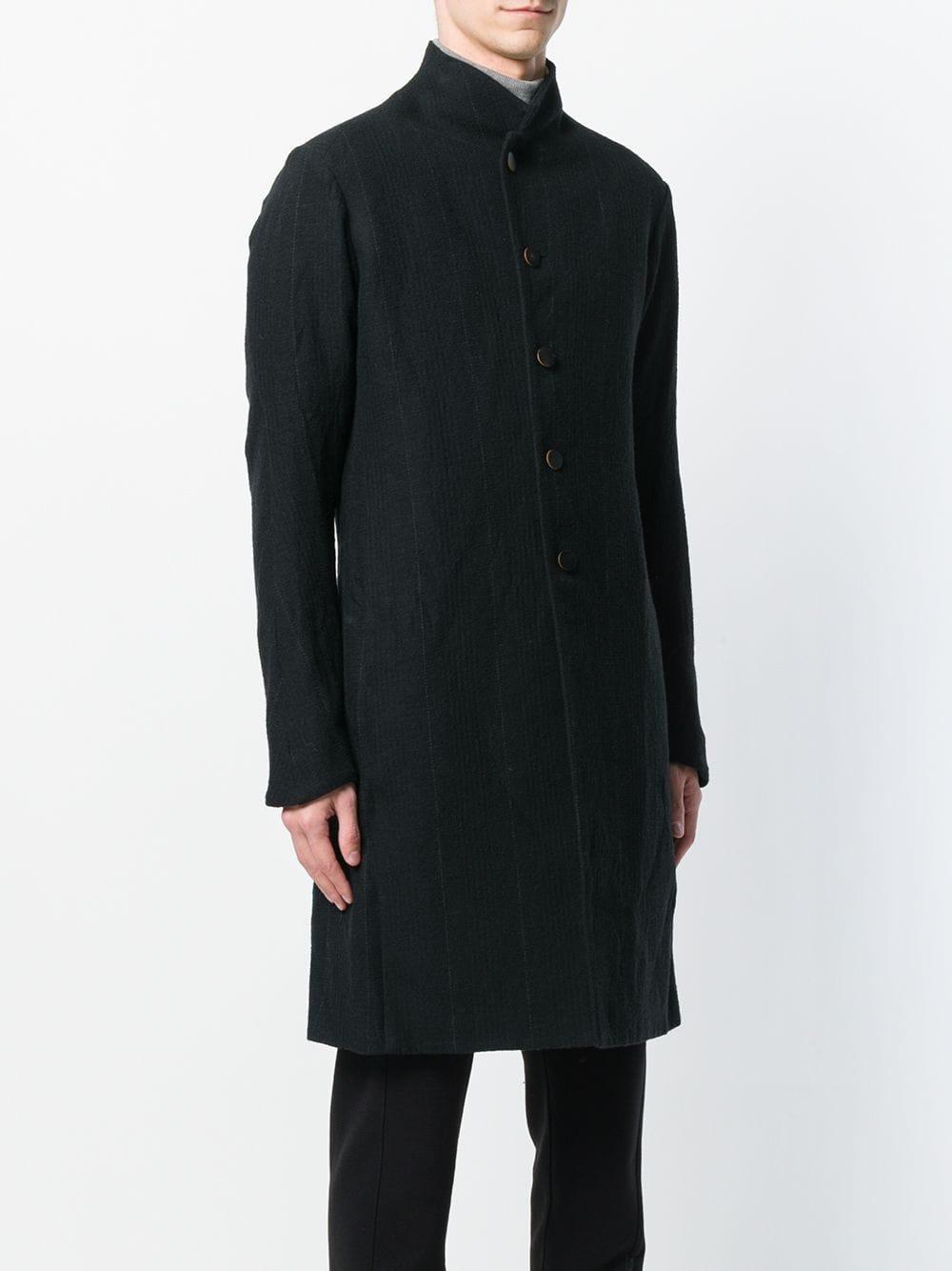 DEVOA Pinstriped Coat in het Zwart voor heren